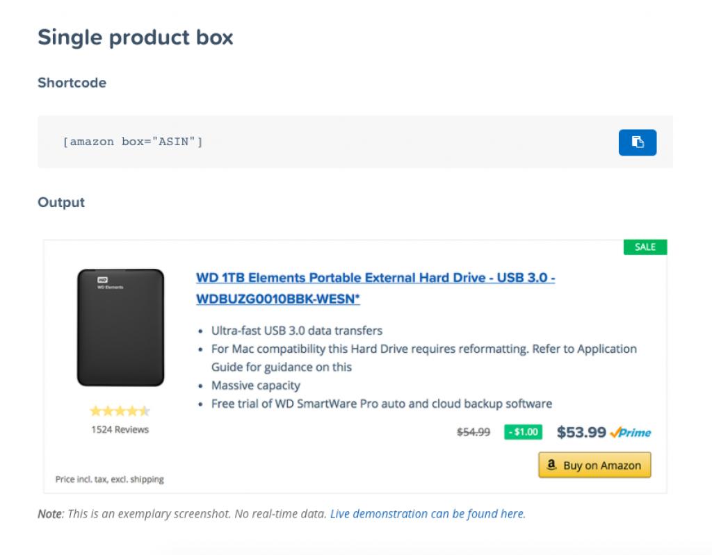 AAWP single product box