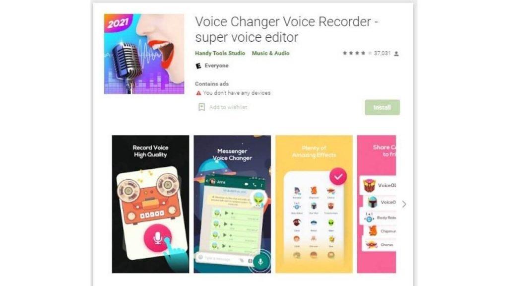 Voice Changer Voice Recorder
