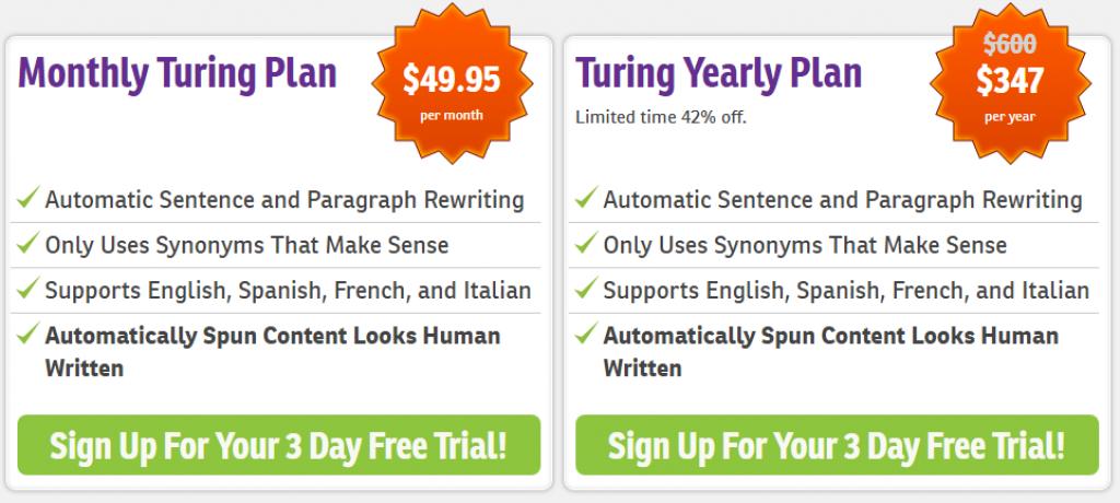 WordAi Pricing Plan