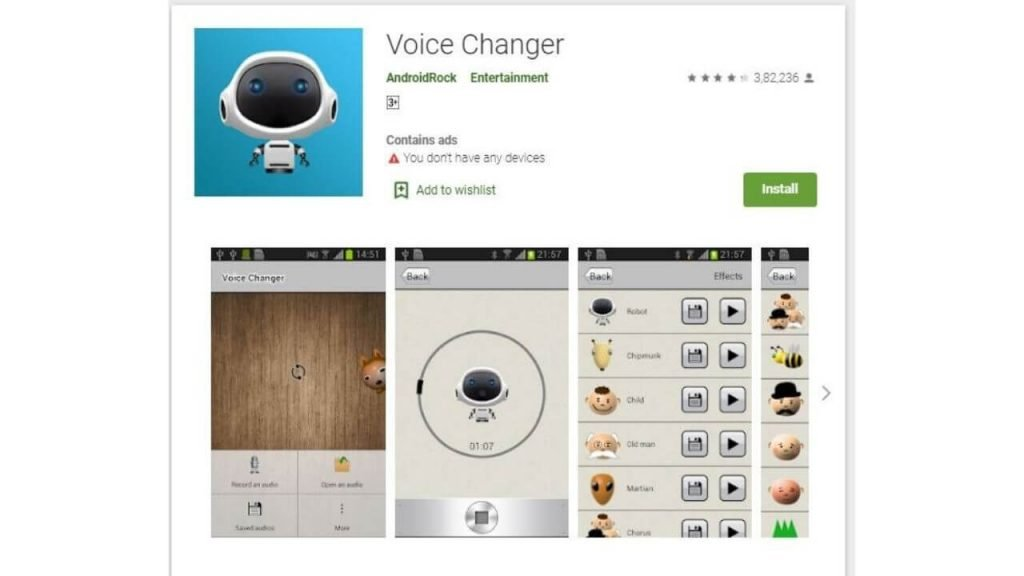 voice changer by androidrock