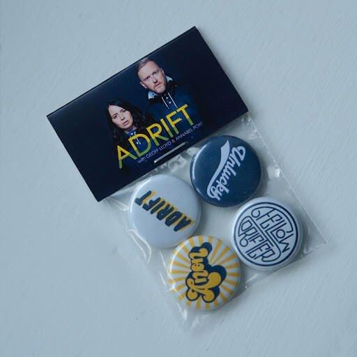 Adrift podcast badges