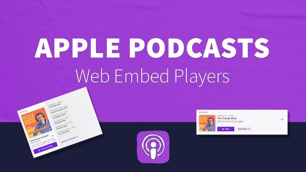 Apple podcast embed players