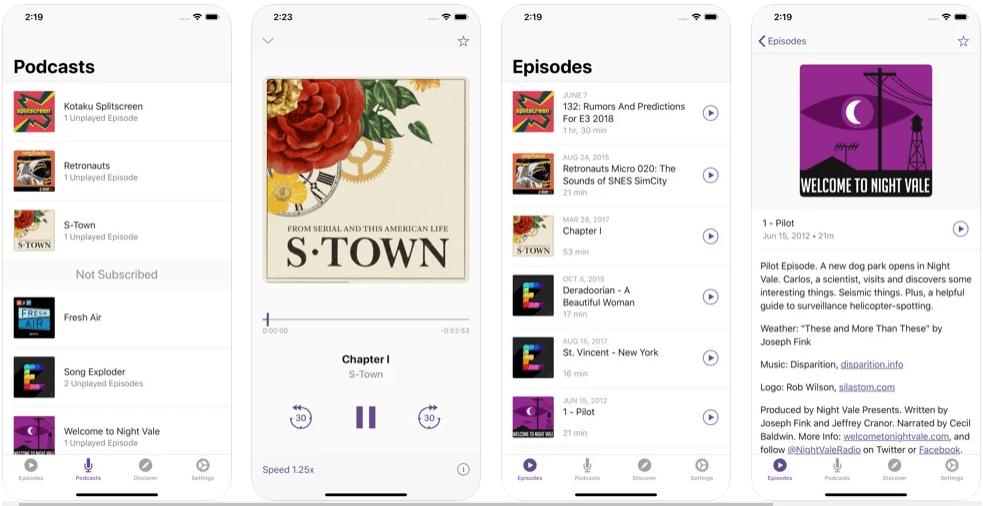Castaway 2 iOS podcast app