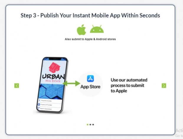 Publish your instant mobile app
