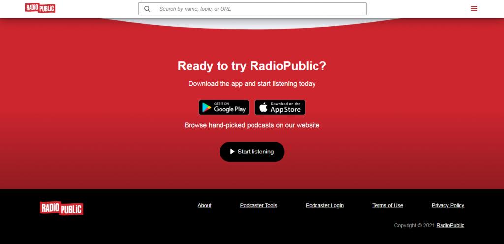 RadioPublic player