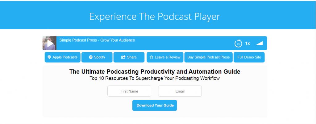 Simple Podcast Press Plugin