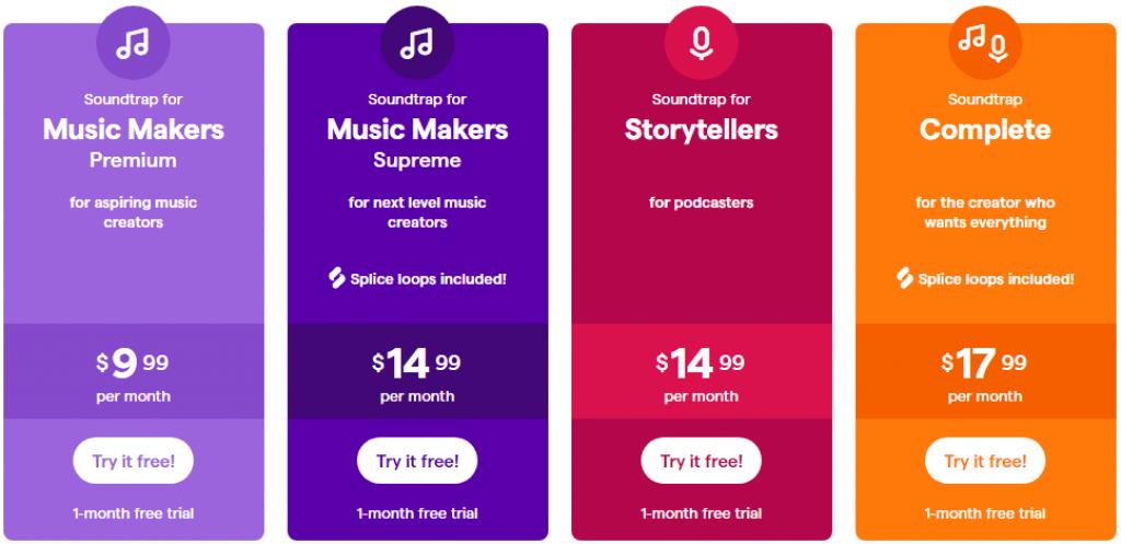 Soundtrap pricing