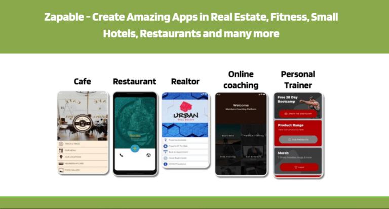 Zapable instant mobile app
