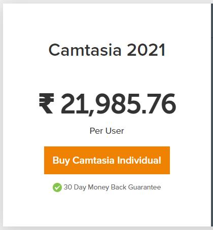 Camtasia pricing