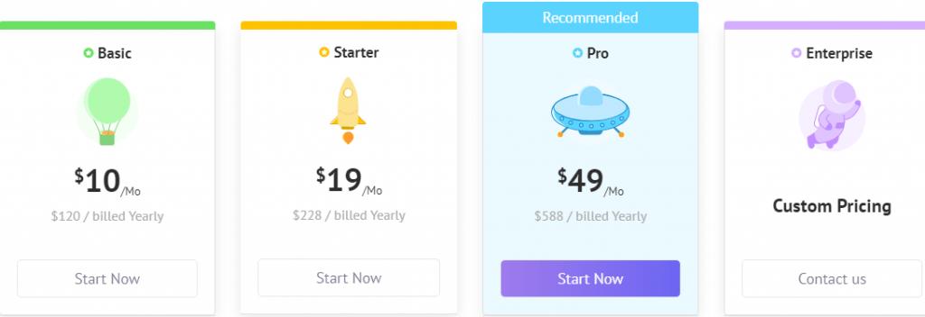 Animaker pricing