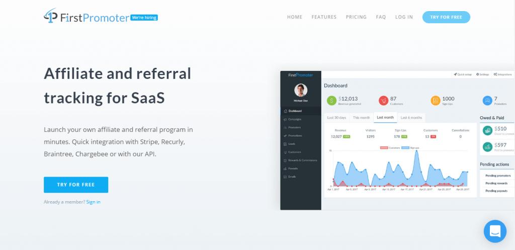 FirstPromoter affiliate marketing software