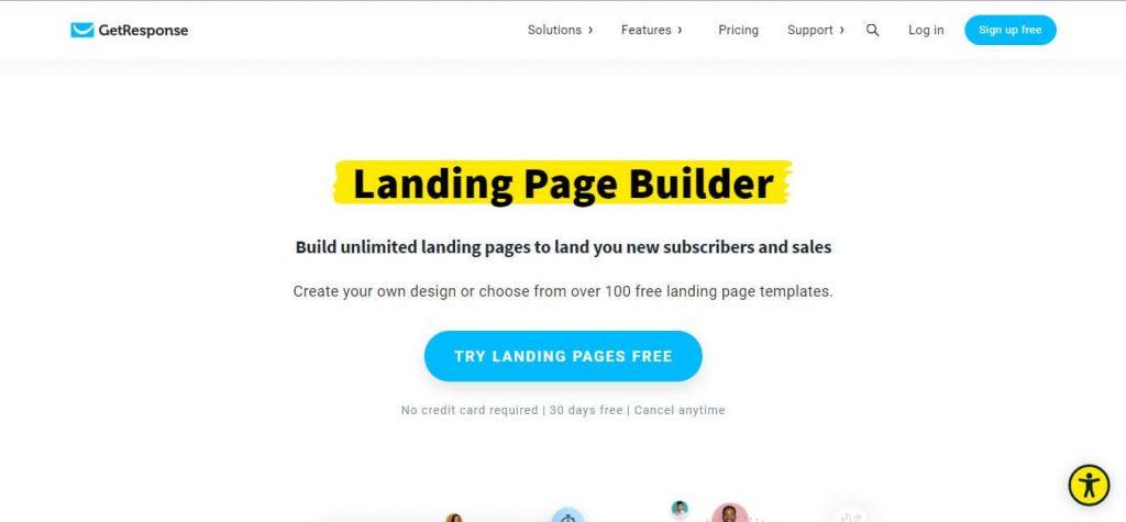 GetResponse Landing Page Builder