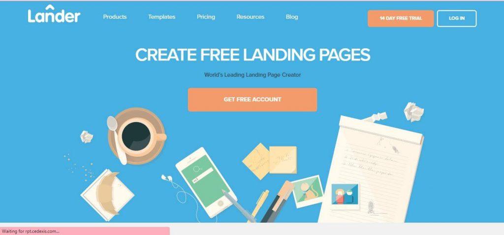Lander Landing Page Builder Software